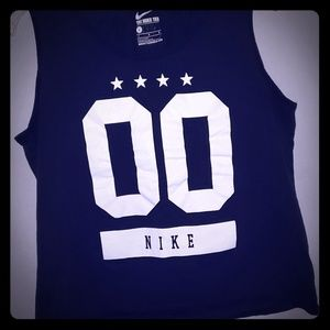 NIKE Tank Large. Black/ White